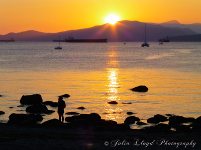 Kits Beach Sunset - 400
